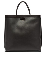 Saint Laurent Patti Grained Leather Tote Black