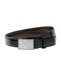 Montblanc Reversible Square Buckle Leather Belt Black