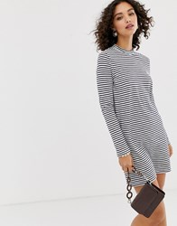 Pieces High Neck Long Sleeve Jersey Mini Dress Multi