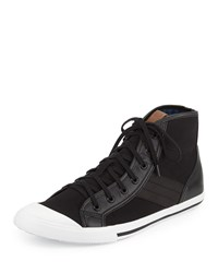 Ben Sherman Earl Hi Cap Toe Canvas Sneaker Jet Black