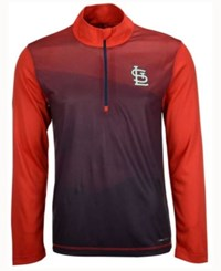 Majestic Men's St. Louis Cardinals Good And Approved Half Zip Pullover Red Navy