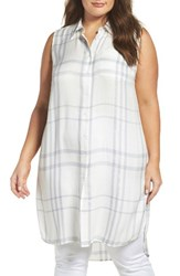 Vince Camuto Plus Size Women's Two By Tranquil Plaid Tunic Shirt