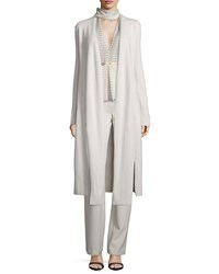 Halston Heritage Duster Cardigan W Tie Front Parchment Size Large