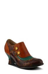 L'artiste Ophitia Pump Turquoise Leather