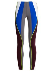 No Ka' Oi Kimi Colour Block Performance Leggings Multi