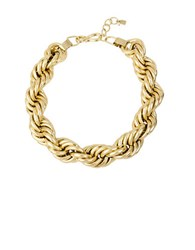 Robert Lee Morris Chain Rope Statement Necklace Gold