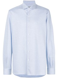 Orian Slim Fit Button Shirt Blue