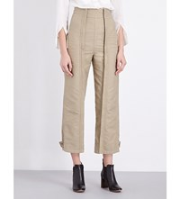 Chloe Military Cotton Trousers Camel