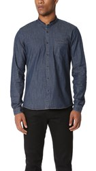 The Kooples Sport Officer Collar Shirt Blue