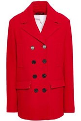 Piazza Sempione Woman Double Breasted Wool Blend Coat Red