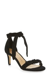 Chinese Laundry Women's Rhonda Ankle Tie Sandal Black Suede