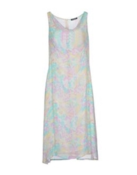 Antonio Fusco Knee Length Dresses Ivory