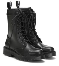 Vetements Leather Ankle Boots Black