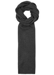 Polo Ralph Lauren Charcoal Ribbed Wool Scarf Grey