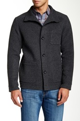 Zachary Prell Grove Boiled Wool Jacket Gray