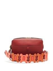 Anya Hindmarch The Stack Leather Cross Body Bag Red Multi