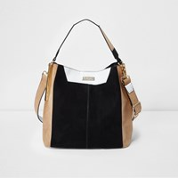 River Island Womens Beige Contrast Slouch Bag