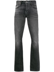 Tom Ford Faded Effect Straight Leg Jeans Grey