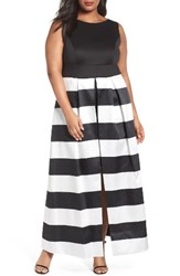 Sangria Plus Size Women's Stripe Overskirt Dress