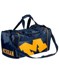 Forever Collectibles Michigan Wolverines Core Duffle Bag Navy