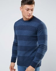Element Striped Knitted Jumper Navy