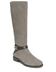 Aerosoles Ring Dish Suede Knee High Boots Grey