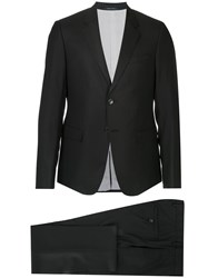Emporio Armani Two Piece Suit Silk Virgin Wool Black