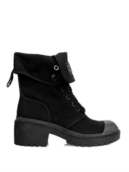 Marc By Marc Jacobs Fold Down Canvas Army Boots