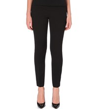 Ted Baker Textured Skinny High Rise Crepe Trousers Black