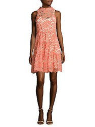 Erin By Erin Fetherston Posie Scalloped Lace Dress Coral