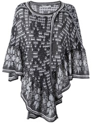 Cecilia Prado Knit Poncho Women Cotton Acrylic One Size Black