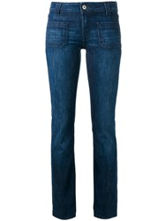 Dondup Straight Leg Jeans Blue