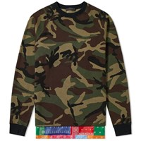 Sophnet. Layered Crew Sweat Green