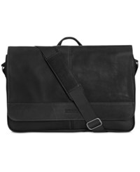 Kenneth Cole Reaction Colombian Leather Computer Messenger Bag Black