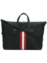 Bally Camer Stripe Detail Holdall Black