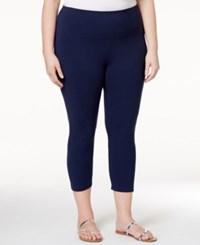 Styleandco. Style Co. Plus Size Capri Leggings Only At Macy's Industrial Blue