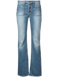 Saint Laurent Bootcut Jeans Blue