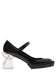 Simone Rocha 80Mm Mary Jane Embellished Leather Pumps