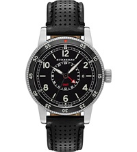 Burberry Bu7854 The Utilitarian Stainless Steel And Leather Watch Black