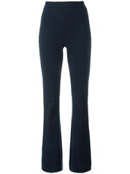 Balmain Pierre Metallic Sides Flared Trousers Blue