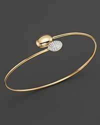Kc Designs Diamond Double Oval Bangle In 14K Yellow Gold White Gold