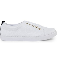 Kg By Kurt Geiger Lava Leather Lace Up Trainers White