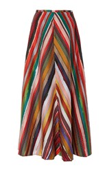 Rosie Assoulin Melted Rainbows A Line Skirt Multi