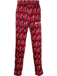 Palm Angels Flame Print Contrast Panel Trousers 60