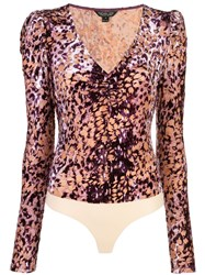 Rachel Zoe Animal Print Bodysuit 60