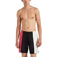 Saturdays Surf Nyc Colorblocked Drawstring Swim Trunks Multi