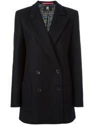 Paul Smith Ps By Double Breasted Blazer Black