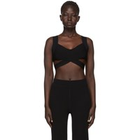 Alexander Wang T By Black Visible Straps Bralette