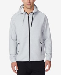 32 Degrees Men's Performance Hooded Sweatshirt Heather Silver