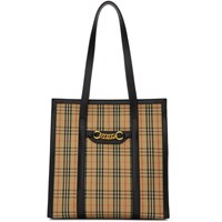 Burberry Beige And Black 1983 Check Link Tote